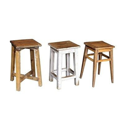 Silkroute STO1273  Old Wooden Stool