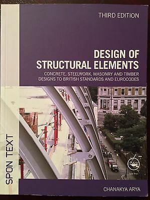 Design of Structural Elements 3rd Edition by Chanakya Arya (Paperback, 2009)