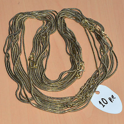 Wholesale 10Pc Solid Brass Plain Nice Long Chain Necklace Jewelry Lot L-22""