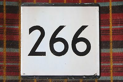 LONDON TRANSPORT BUS STOP E-PLATE for Route 266