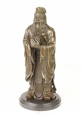 bronce sculpture figur figurine chinese wise man