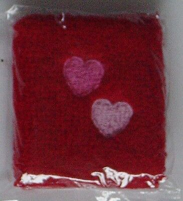 Red Wristband With Hearts