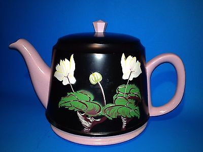 RARE - Vintage OLD  6 Cup Ceramic TeaPot with Decorated Insulated Cover Cosy