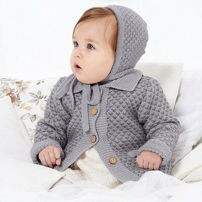 Paz Rodriguez Baby Grey Wool Knitted Coat 36 Months
