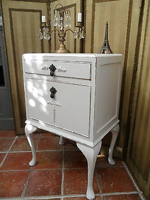 Sweet Vintage Painted Bedside Table Lovely Interior Shabby Chic French Feel