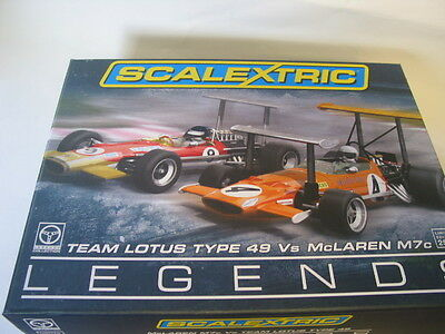 Scalextric C3544A MCLAREN M7C TEAM LOTUS TYPE 49 LTD ED  TWIN PACK MINT BOXED
