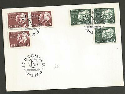 SWEDEN - 1966 Nobel Prizewinners 1906  - FIRST DAY COVER