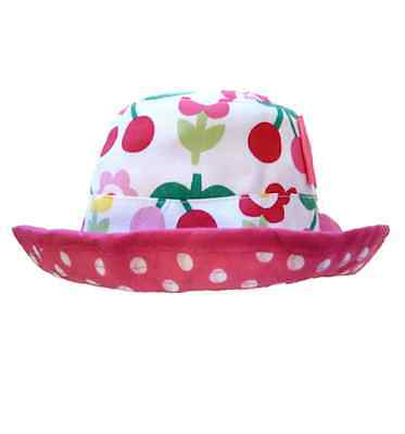Reversible Cotton Cherry Hat with Polka Dots Design for Girls by Toby Tiger af7b9c3e5eb5