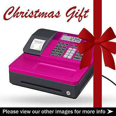 Pink Casio SE-G1 Cash Register & 5 FREE TILL ROLLS - Great Gift For Christmas