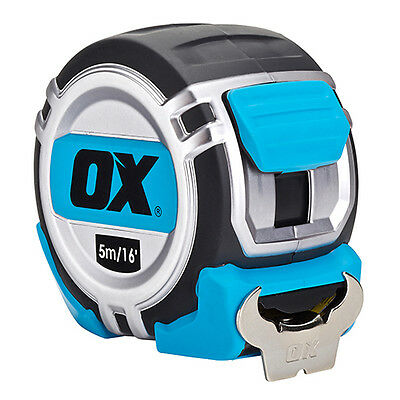 Ox Pro Heavy Duty Tape Measure - 5M - Heavy Duty Construction