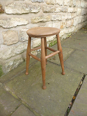 Vintage round topped stool   Beech + Elm