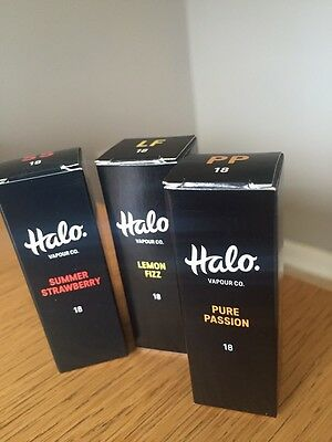 Halo E-Liquids ....4 X 10ml..Any Flavour Any Strength...Only £10.99