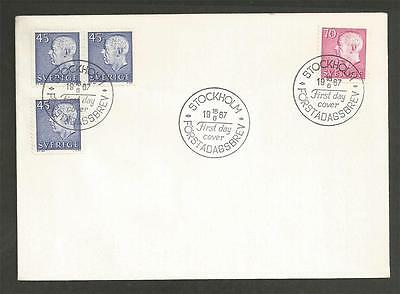 SWEDEN - 1967 King Gustaf VI Adolf - New Values    - FIRST DAY COVER