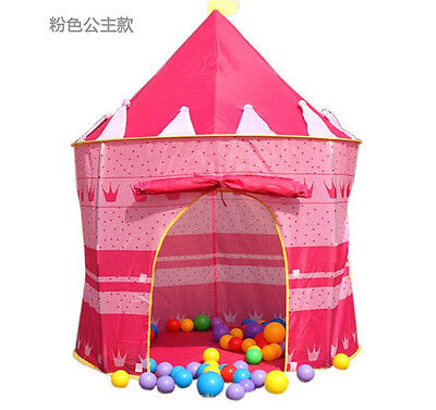 NEW Portable Girl Pink Princess Play Tent Childrens Kids Castle Cubby Play House