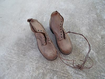 Original French Boots WWII Indochina War Size 7