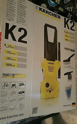 Karcher K2 Compact High Pressure Washer With 15M Hose And Accessories