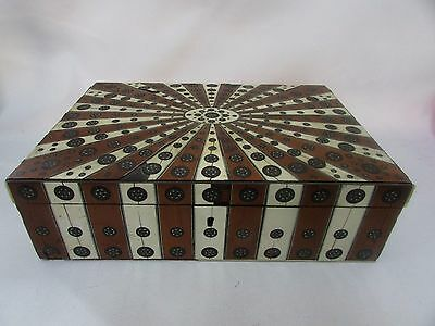 Very Old Inlaid Micro Mosaic Writing Box Antique Arts & Craft Victorian Georgian