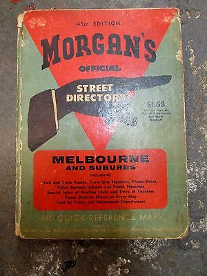 MORGANS STREET DIRECTORY MELBOURNE 43RD EDITION 1960s COFFEY FORD FALCON AD