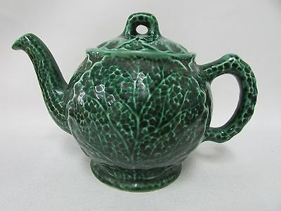 Shorter & Sons Cabbage Leaf Green Teapot Wedgwood Style Antique Gourmet Ware