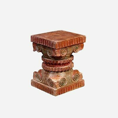 Silkroute STO77  Pillar Base Stool
