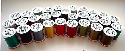 "8/0, 6/0 and 4/0 Fly Tying Threads ""4Trouts FLAT"" - Lot of combo 3x or 5x spools"