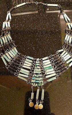 huge 1920s ancient egyptian rivival necklace