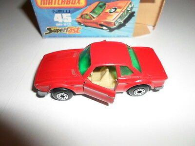 Matchbox Lesney N°45 BMW 30 CSL RED VNMINT Boxed Extremely RARE