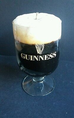 Vintage Guinness Candle in a glass - man cave