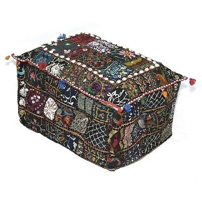Silkroute STO111  Patchwork Embroidery Rectangular Stool