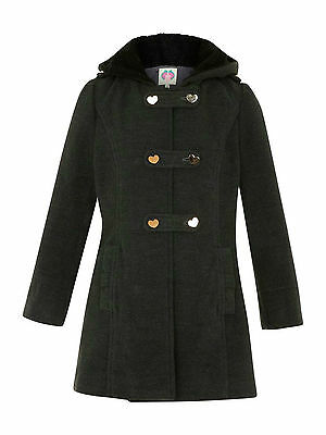 Ex Debenhams Yumi Girls Grey Duffle School Coat rrp-£48  BNWT AGE 11-12