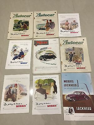 Collection Of MORRIS MOTORS 1948 Original Car Adverts (M9)