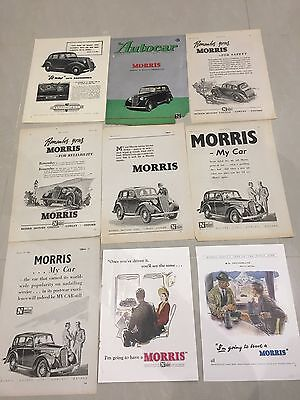 Collection Of MORRIS MOTORS 1945 - 1948 Original Car Adverts (M8)