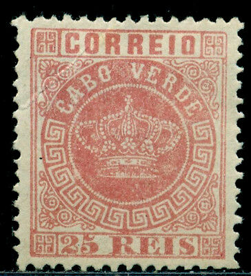 1877 Royal Crown,Definitives,Cabo Cape Verde,Mi.4Ab,25R,perf.12.5,MNG
