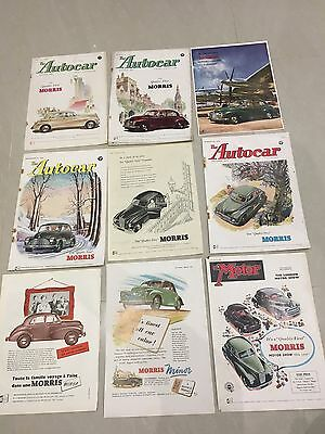 Collection Of MORRIS MOTORS 1950 - 1952 Original Car Adverts (M12)