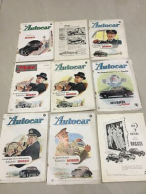 Collection Of MORRIS MOTORS 1951 - 1952 Original Car Adverts (M14)