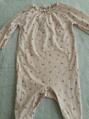 the little white companybaby girl  bodysuit babygrow romper  3-6 months