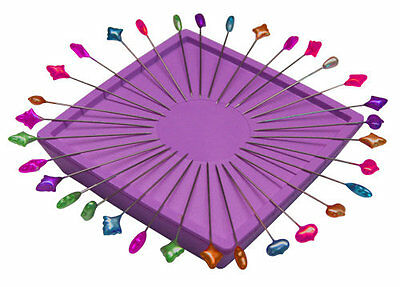 Zirkel Magnetic Pin Holder Purple - Repels & separates pins to the edge