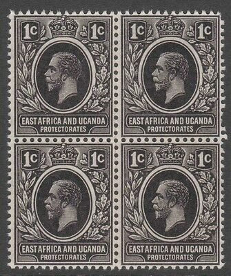 Block of four GV 1c East Africa and Uganda Protectorate