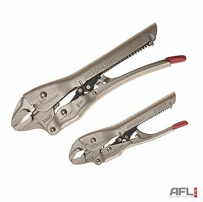 "CH Hanson 80200 Curved Jaw Automatic Locking Pliers Set - 150mm(6"") & 250m(10"")"