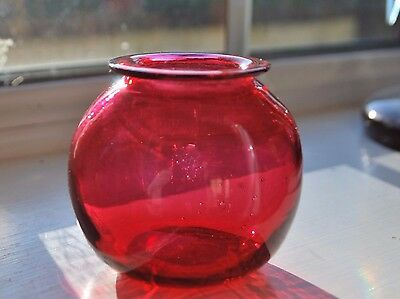 Small Victorian Cranberry Posy Vase