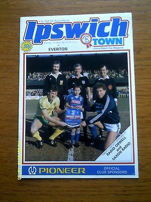 IPSWICH TOWN v EVERTON FA CUP 1984/85