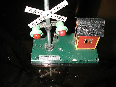American Flyer Train Crossing Flasher and Bell Signal Vintage 1950s EXC