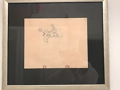 """MICKEY MOUSE Original Production Pencil Drawing - 1935 """"Mickey's Garden"""""""