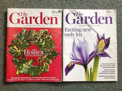 2 RHS The garden magazines - february 2016 & december 2015