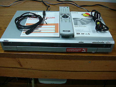 Sony RDR-GX315 DVD Recorder Player Remote and Manual Included