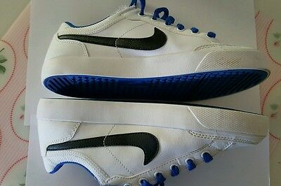 Kids NIKE Size 4Y US / 23 CM  Shoes Blue NEAR NEW  Casual Leather Boys Girls