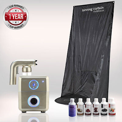 Tanning Essentials™ Rapid 'Champagne Gold' Spray Tan complete Kit with Curtain