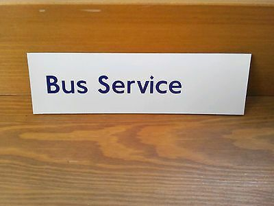 London underground magnetic sign.bus service.