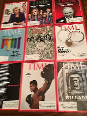 Lot of 14 TIME Magazine Back Issues - 2016 Issues