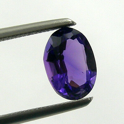 Oval Faceted Cut Natural Amethyst Loose Gemstone - Light to Dark Color Purple
